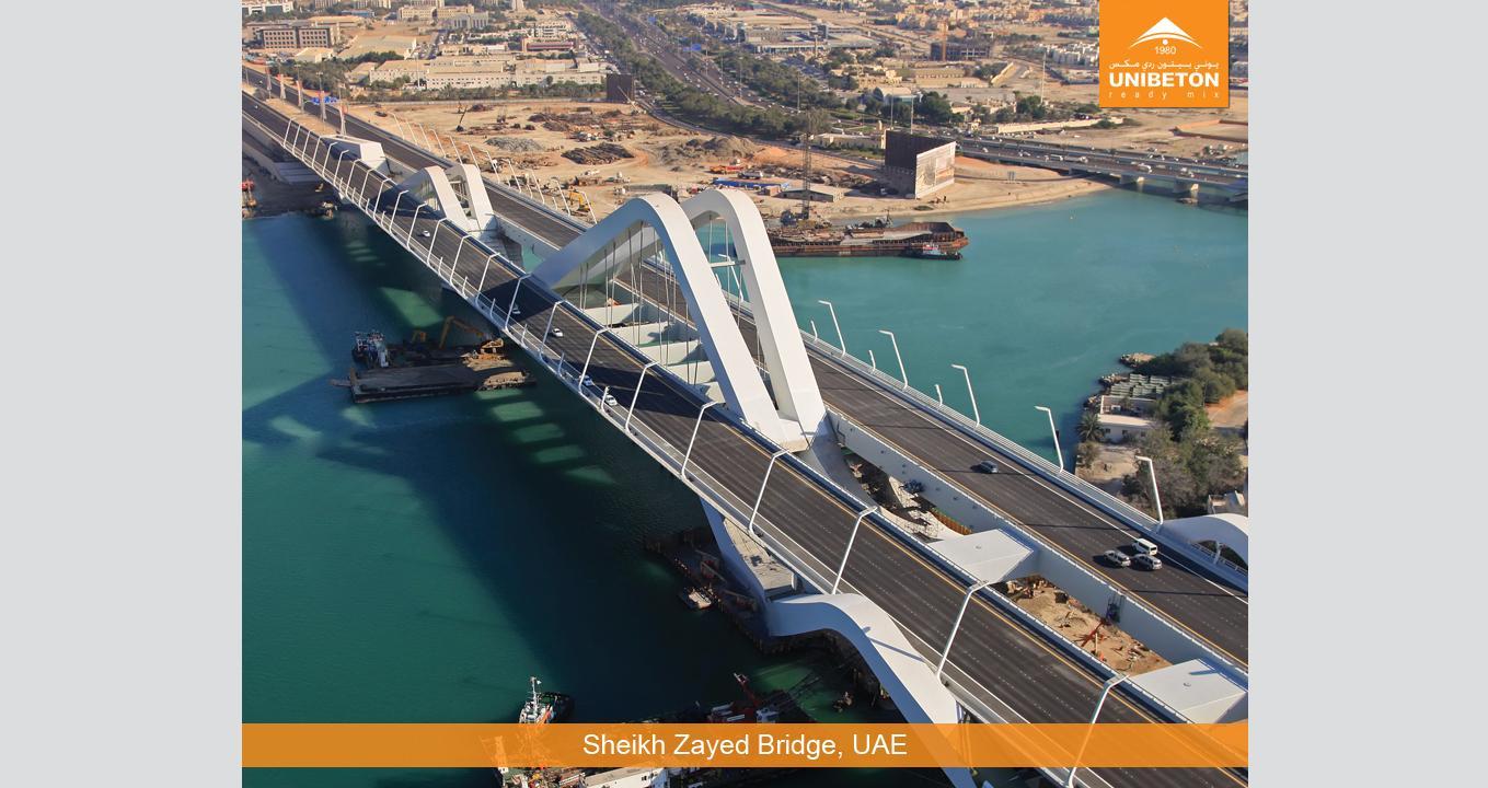 Sheikh Zayed Bridge | Unibeton Ready Mix