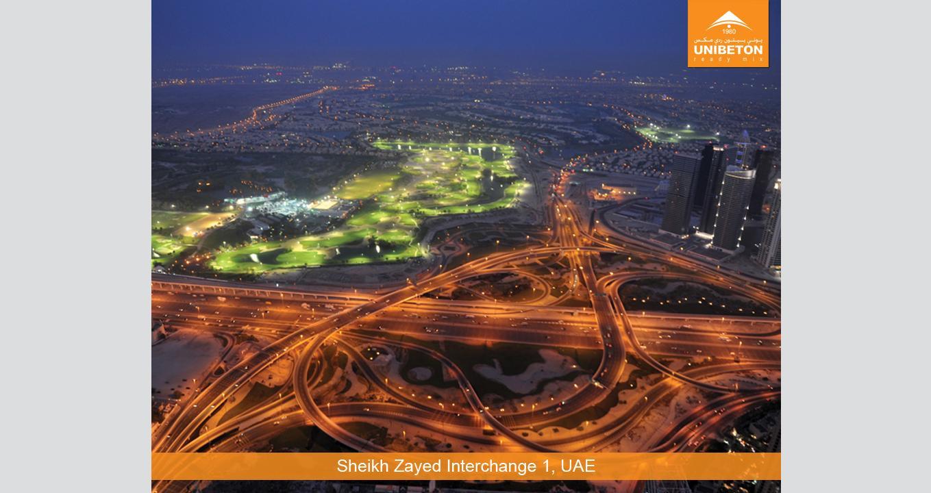 Sheikh Zayed Interchange   Unibeton Ready Mix