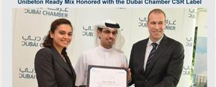 Unibeton Ready Mix Honored with the Dubai Chamber CSR Label